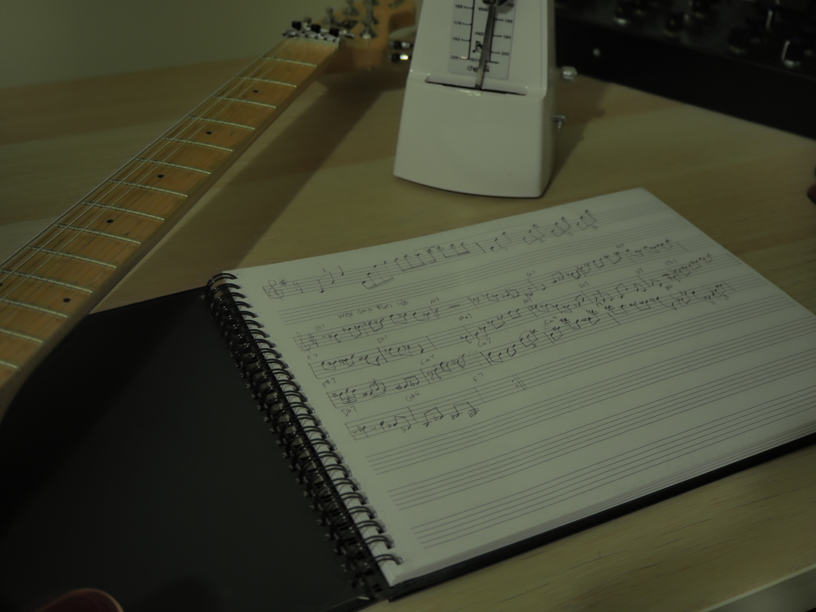 guitar practice notebook